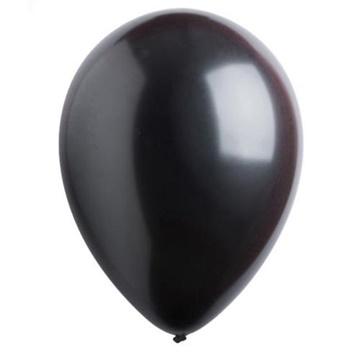 Obrázek Dekorační balonky perleťové černé 28 cm - 50 ks