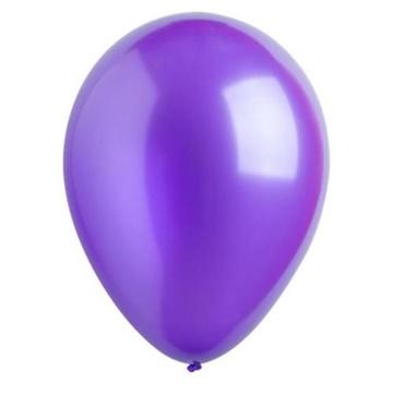 Obrázek Dekorační balonky metalické fialové 28 cm - 50 ks