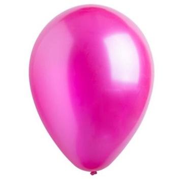 Obrázek Dekorační balonky metalické magenta 28 cm - 50 ks