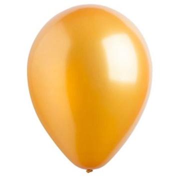 Obrázek Dekorační balonky metalické zlaté 28 cm - 50 ks