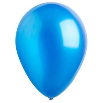 Obrázek Dekorační balonky metalické modré 28 cm - 50 ks