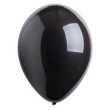 Obrázek Dekorační balonky pastelové černé 28 cm - 50 ks
