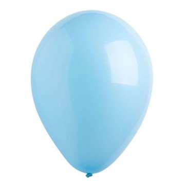 Obrázek Dekorační balonky pastelové světle modré 28 cm - 50 ks