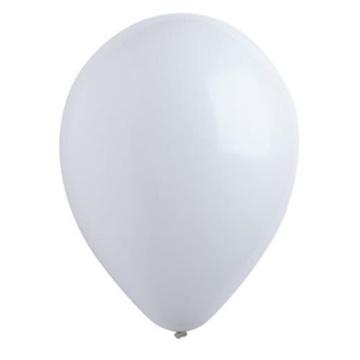 Obrázek Dekorační balonky pastelové bílé 28 cm - 50 ks