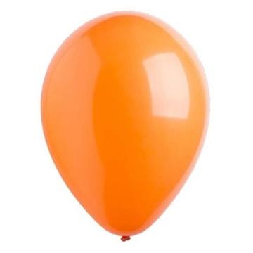 Obrázek Dekorační balonky pastelové oranžové 28 cm - 50 ks