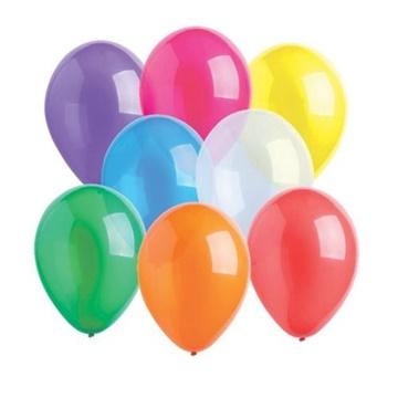 Obrázek Dekorační balonky krystalické mix 28 cm - 50 ks