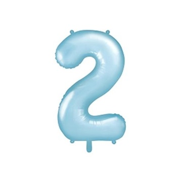 Obrázek Foliová číslice - modrá 2 - 86 cm