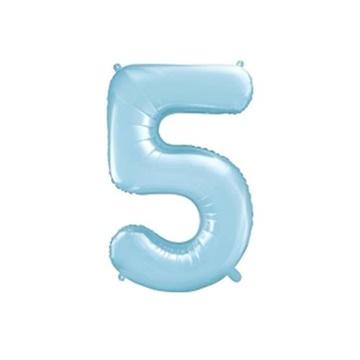 Obrázek Foliová číslice - modrá 5 - 86 cm
