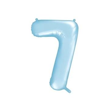 Obrázek Foliová číslice - modrá 7 - 86 cm
