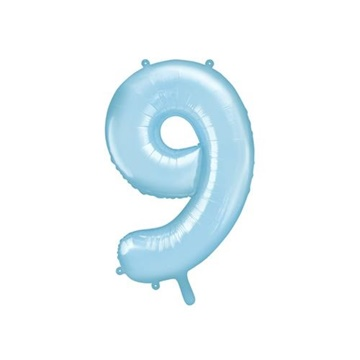 Obrázek Foliová číslice - modrá 9 - 86 cm