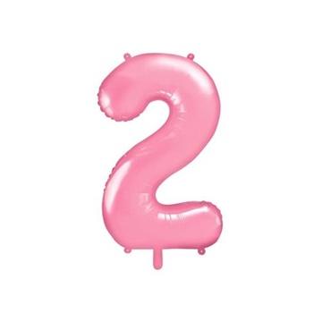 Obrázek Foliová číslice - růžová 2 - 86 cm
