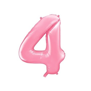 Obrázek Foliová číslice - růžová 4 - 86 cm