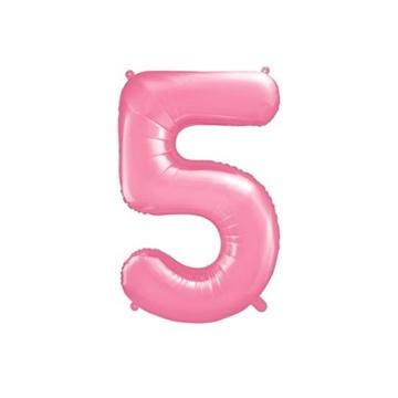 Obrázek Foliová číslice - růžová 5 - 86 cm