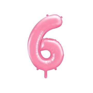 Obrázek Foliová číslice - růžová 6 - 86 cm