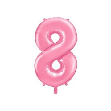 Obrázek Foliová číslice - růžová 8 - 86 cm