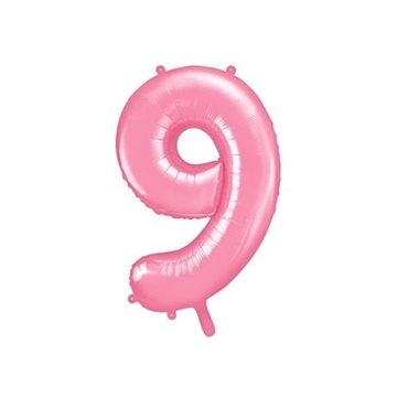 Obrázek Foliová číslice - růžová 9 - 86 cm
