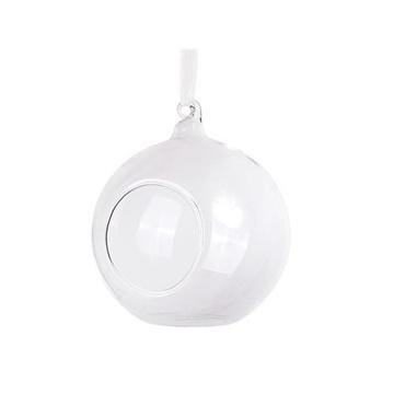 Obrázek Dekorační skleněné koule s otvorem čiré 10 cm - 4 ks