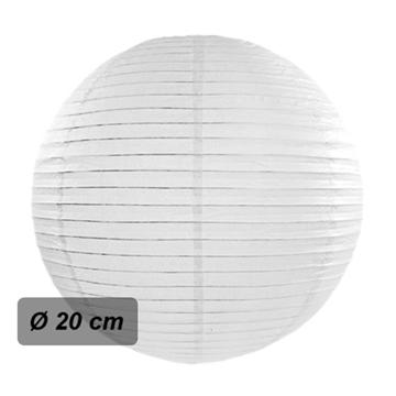 Obrázek Lampion kulatý 20 cm bílý