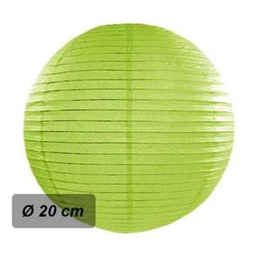 Obrázek Lampion kulatý 20 cm světle zelený