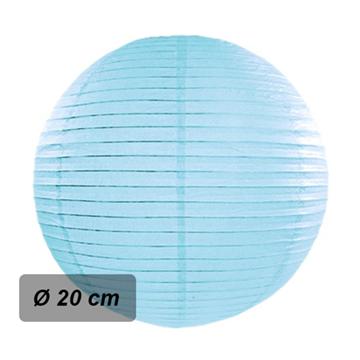 Obrázek Lampion kulatý 20 cm světle modrý