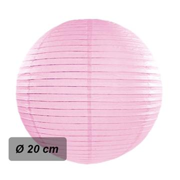 Obrázek Lampion kulatý 20 cm růžový