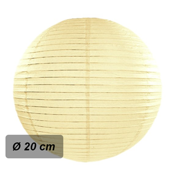 Obrázek Lampion kulatý 20 cm šampaň
