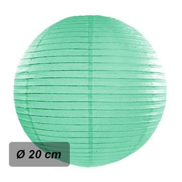 Obrázek Lampion kulatý 20 cm mint