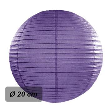 Obrázek Lampion kulatý 20 cm fialový