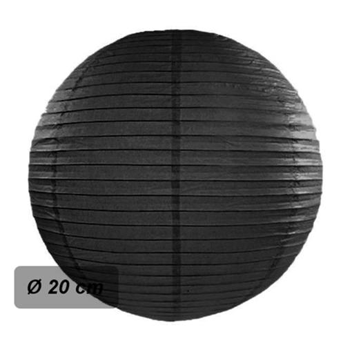 Obrázek z Lampion kulatý 20 cm černý