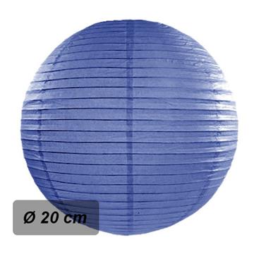 Obrázek Lampion kulatý 20 cm tmavě modrý