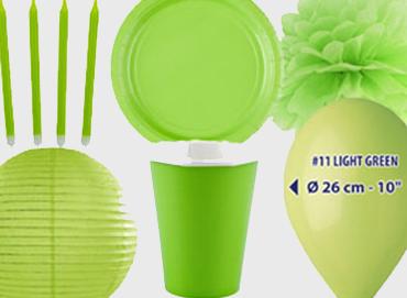 Obrázek pro kategorii Party dekorace a stolování - světle zelená barva