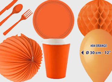 Obrázek pro kategorii Party dekorace a stolování - oranžová barva