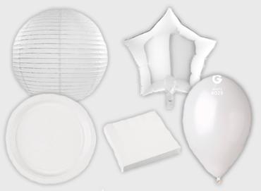 Obrázek pro kategorii Party dekorace a stolování - bílá barva