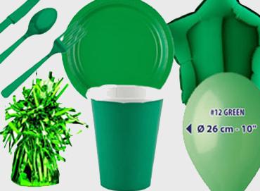 Obrázek pro kategorii Party dekorace a stolování - zelená barva
