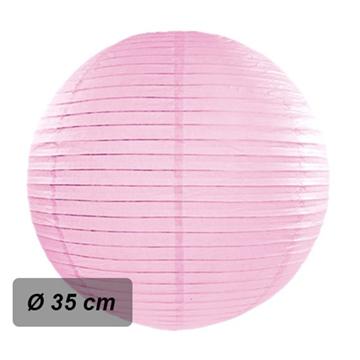 Obrázek Lampion kulatý 35 cm růžový