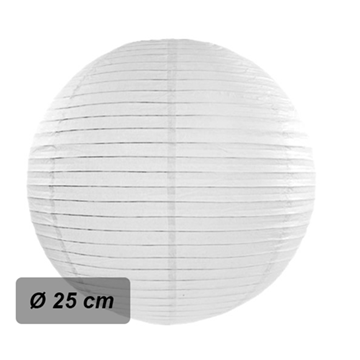 Obrázek Lampion kulatý 25 cm bílý