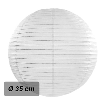 Obrázek Lampion kulatý 35 cm bílý