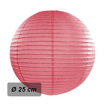 Obrázek Lampion kulatý 25 cm korálový