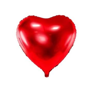 Obrázek Foliový balonek srdce červené 61 cm