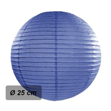 Obrázek Lampion kulatý 25 cm tmavě modrý