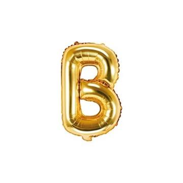 Obrázek Foliové písmeno B zlaté 35 cm