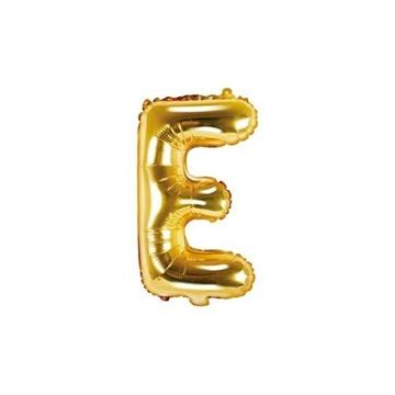 Obrázek Foliové písmeno E zlaté 35 cm