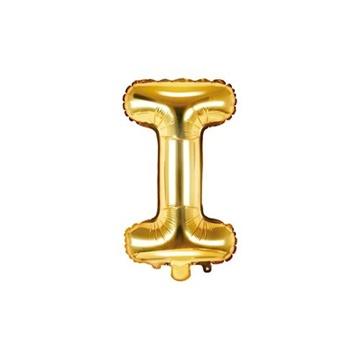 Obrázek Foliové písmeno I zlaté 35 cm