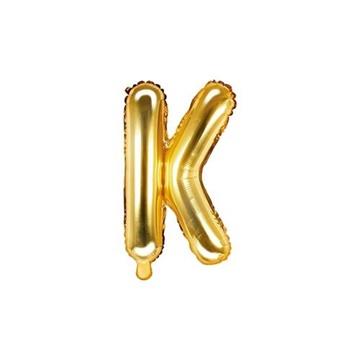 Obrázek Foliové písmeno K zlaté 35 cm