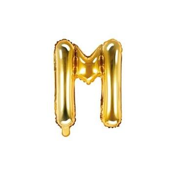 Obrázek Foliové písmeno M zlaté 35 cm