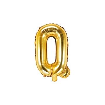 Obrázek Foliové písmeno Q zlaté 35 cm