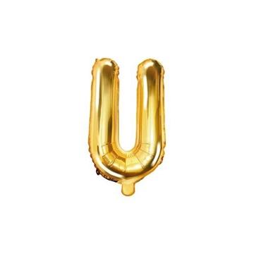 Obrázek Foliové písmeno U zlaté 35 cm