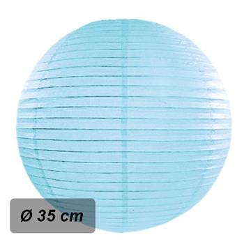 Obrázek Lampion kulatý 35 cm světle modrý