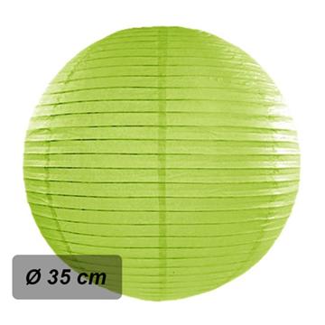 Obrázek Lampion kulatý 35 cm světle zelený