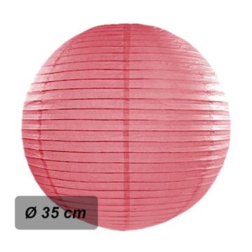 Obrázek Lampion kulatý 35 cm korálový